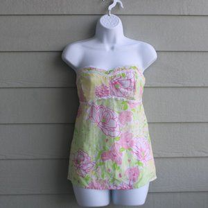 Lilly Pulitzer floral Tube Top